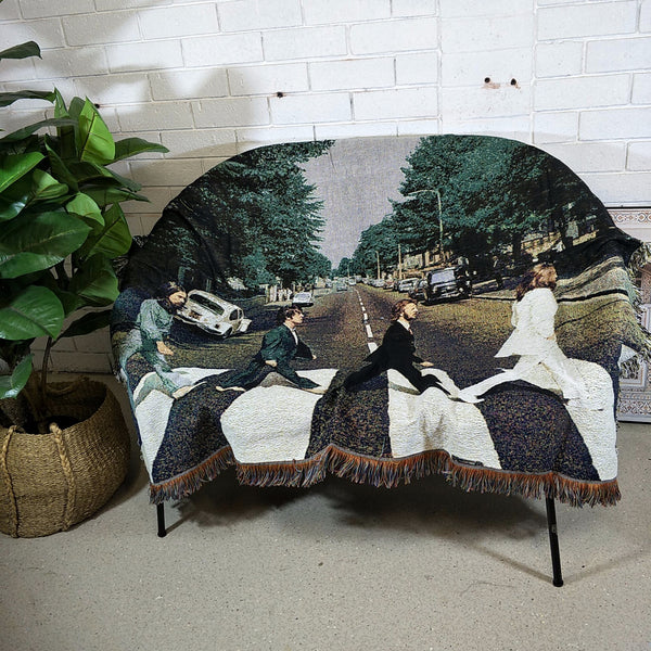 Decor Throw Rug- Beatles walk crossing Abbey Road