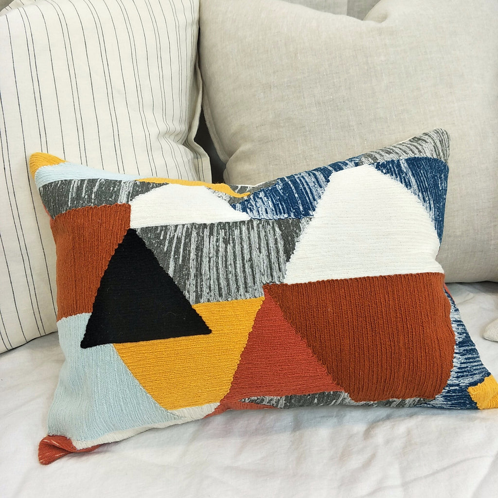 Nordic Chic Jaipur Hand-made Patchwork Cushion Feather Filled 35x50cm