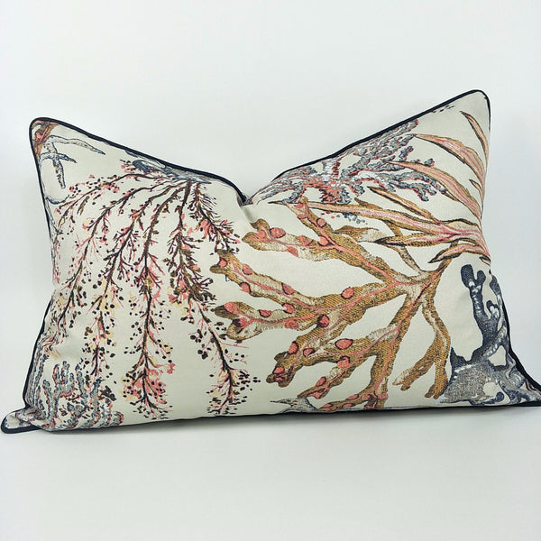 Coral Reef Cushion Lumbar - Plush Feather Filled