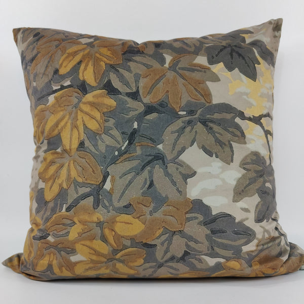 Botanical Lane Velvet Cushion Feather Filled 50cm Square- Autumn Leaves