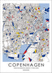 Progressive Nordic Living Map inspired by Art of Piet Mondrian Fine Print - Copenhagen