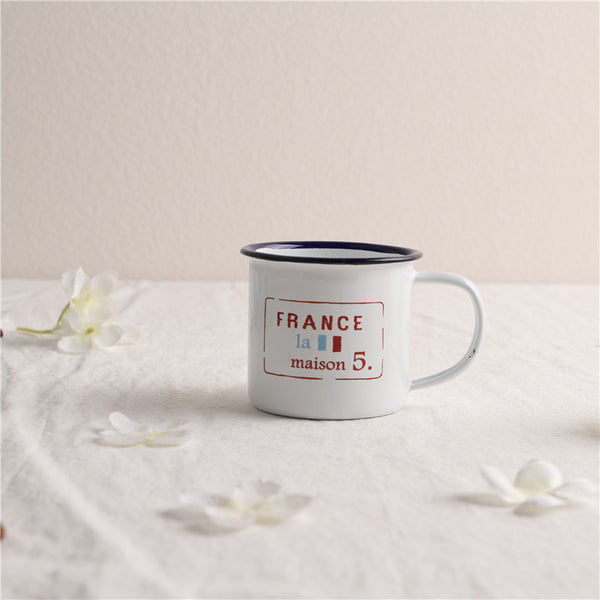 Enamel Cup Boutique Collection- FRANCE La Maison 5