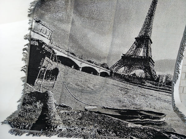 Woven Tapestry Picnic Rug Beach Blanket- The Seine