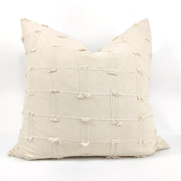 Nordic Chic Hudson Cotton Cushion Feather Filled 50x50cm