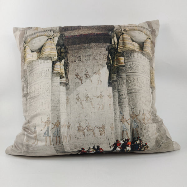 The Nile Velvet Cushion Feather Filled 50x50cm Square - Temple