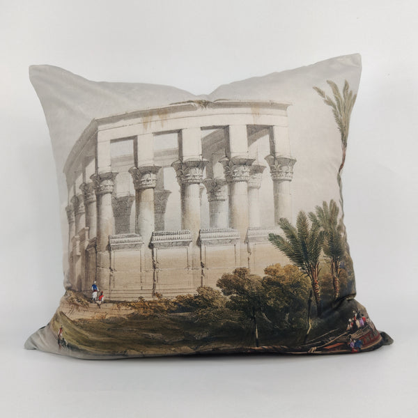 The Nile Velvet Cushion Feather Filled 50x50cm Square - Riverbank