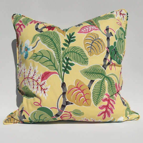 Designer Fabric by COVINGTON- Linen Cushion 55cm Square Feather Filled - Spring