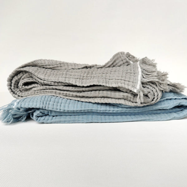 Bursa Stonewashed Cotton Muslin Throw - 2 Colors