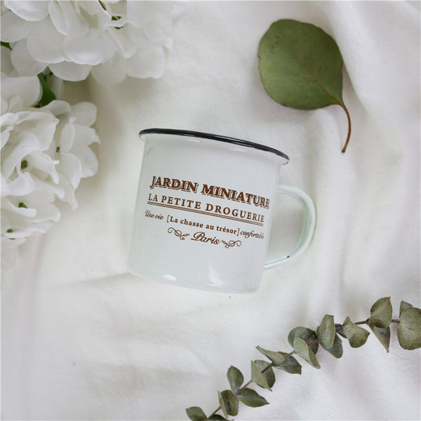 Enamel Cup Boutique Collection- JARDIN MINIATURE