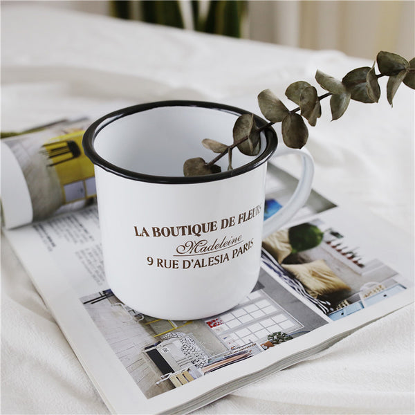 Enamel Cup Boutique Collection- La Boutique De Fleurs
