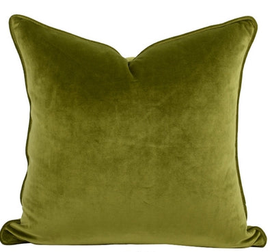 The Boulevarde Luxe Velvet Cushion Square 50cm - Forest Green
