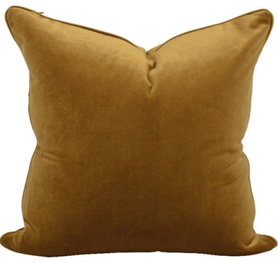 The Boulevarde Luxe Velvet Cushion Squrae 50cm - Mustard