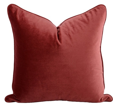 The Boulevarde Luxe Velvet Cushion Squrae 50cm - Amber