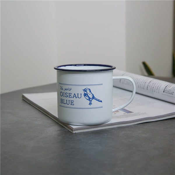 Enamel Cup Boutique Collection- OISEAU BLUE