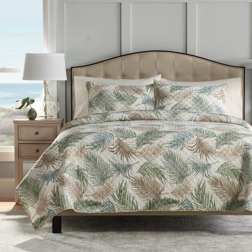 Palm 100% Cotton Coverlet Bedspread Bedcover Set - King Size
