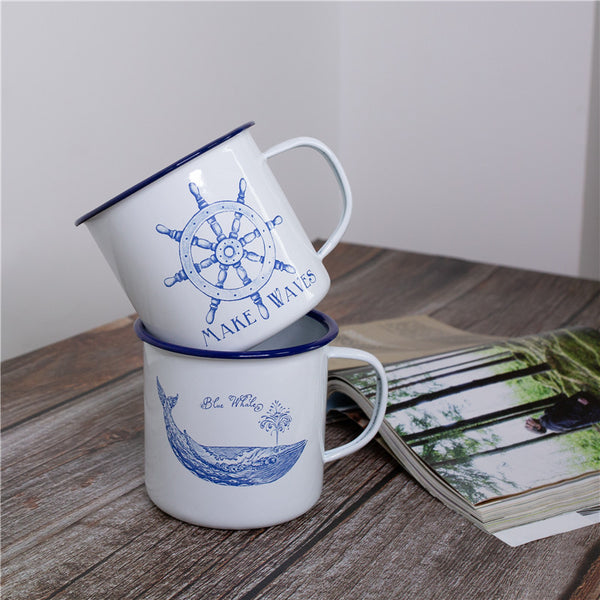 Enamel Cup Boutique Collection- Whale