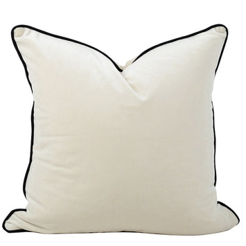 The Boulevarde Luxe Velvet Cushion Squrae 50cm - Cream White