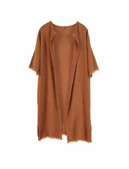 Aarhus European Linen Coat Loose Fringed Cardigan & Dress - 3 colors