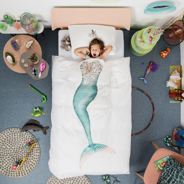 Mermaid single duvet cover Designed in Holland Made in Portugal - LIMITED STOCK