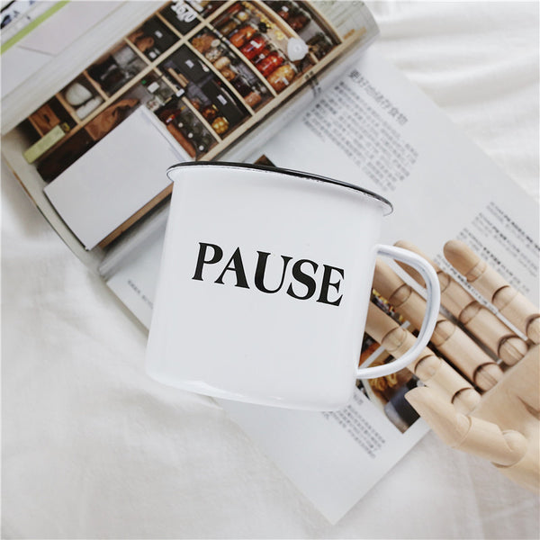 Enamel Cup Boutique Collection- Pause