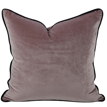 The Boulevarde Luxe Velvet Cushion Squrae 50cm - Plum