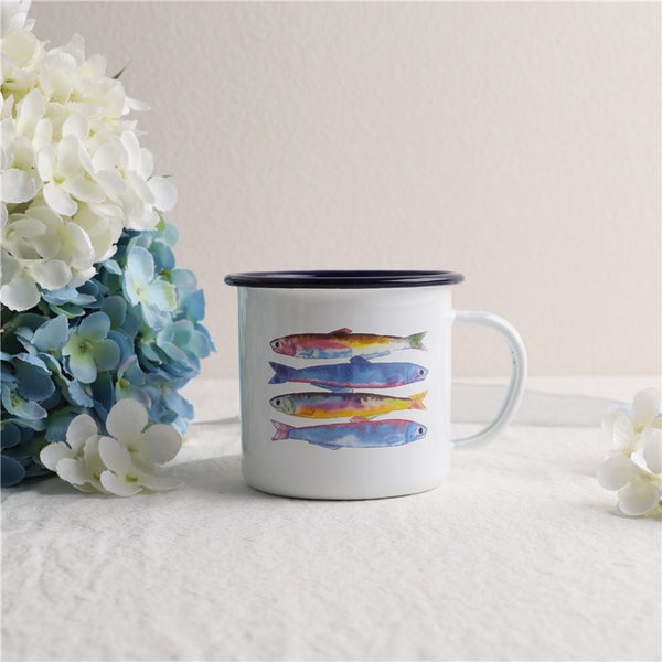Enamel Cup Boutique Collection- Sardine