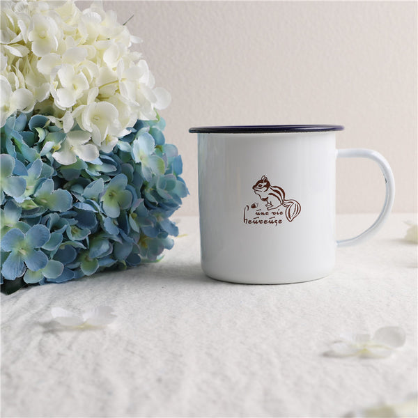 Enamel Cup Boutique Collection- Squirrel
