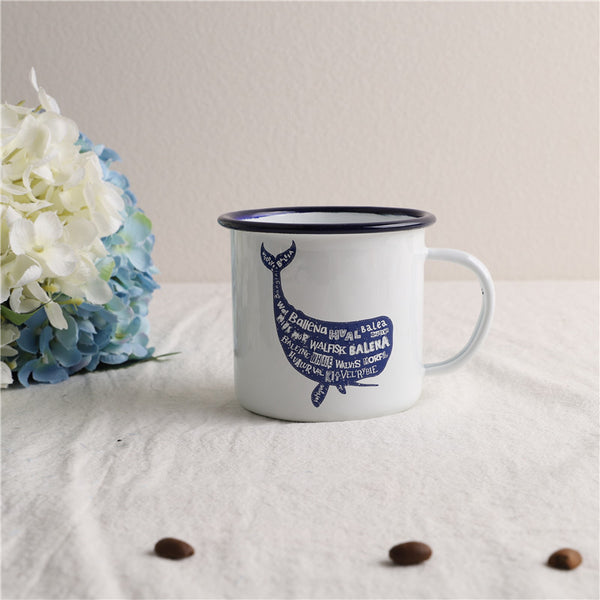 Enamel Cup Boutique Collection- Blue Whale