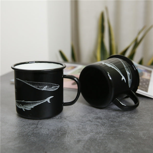 Enamel Cup Boutique Collection- Whale Lovers