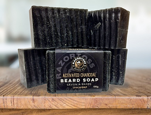 UNSCENTED - charcoal beard soap - Razortoss Beard Company