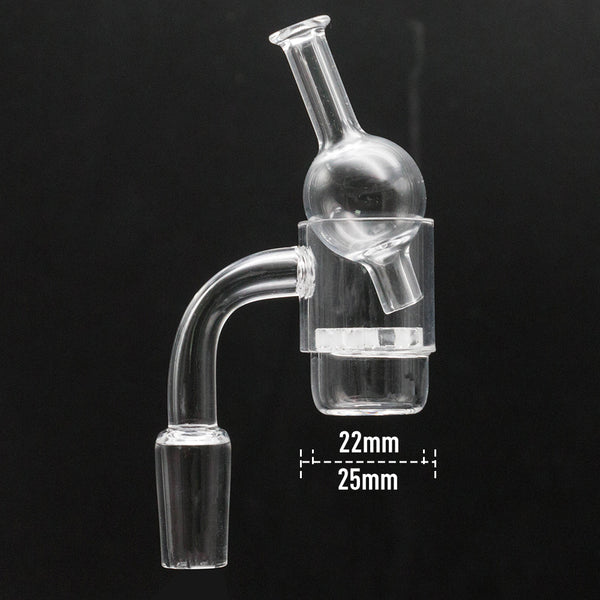 Volcanee Flat Top XL Quartz Banger with Snowflake Insert + Glass Carb Cap