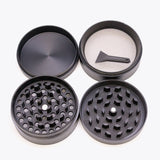 Volcanee Zicn Alloy Metal Hrinders  55mm 4 Layer for dry herb