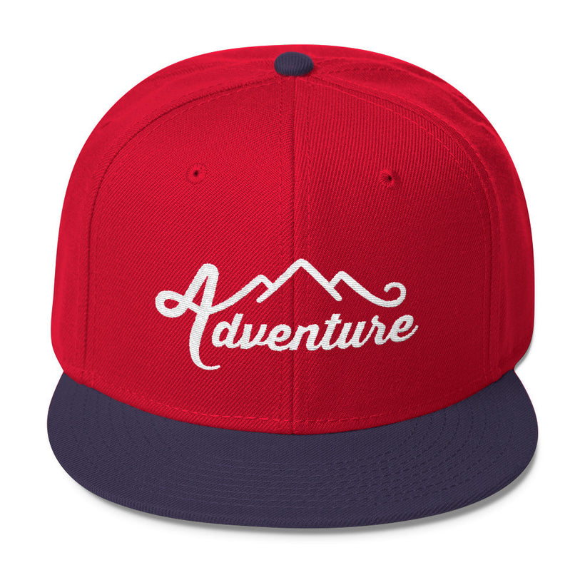Adventure With Mountain Wool Blend Snapback