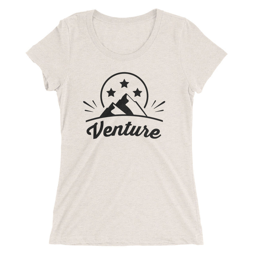 Ladies' Venture Stars Blk Text True Tri-Blend t-shirt