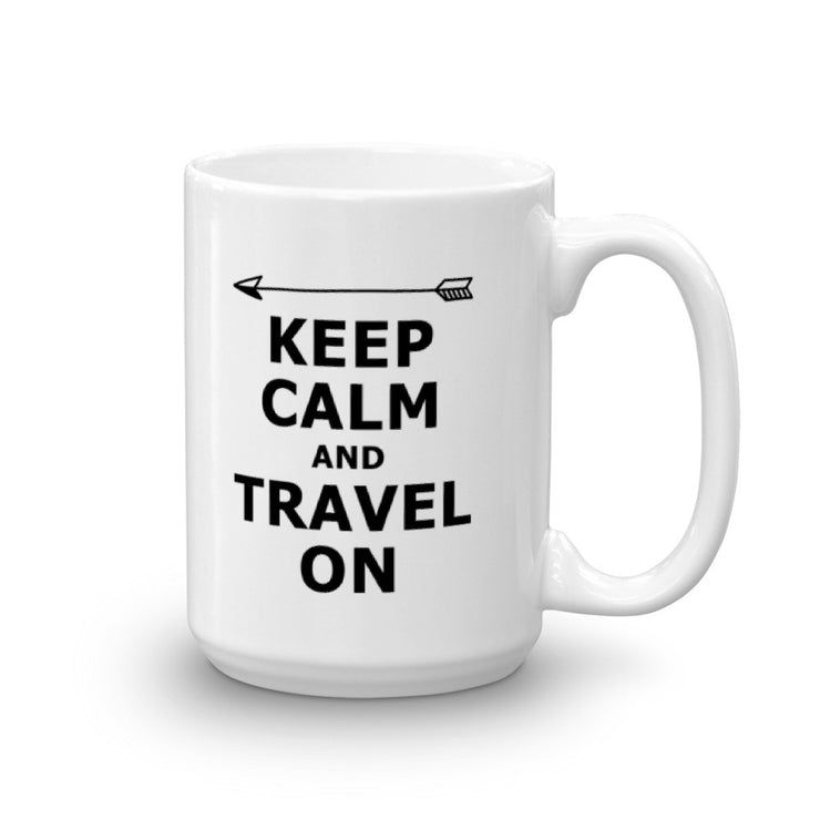 Keep Calm and Travel On Mug