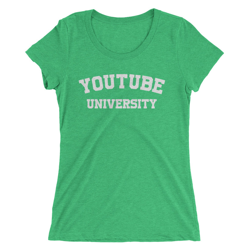 Ladies' YouTube University True Tri-Blend T-shirt