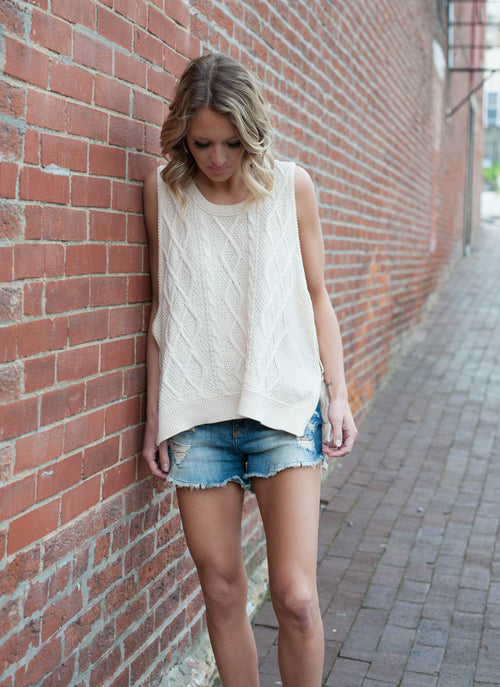 Cassandra Cable Knit Top Tops - IV Collection