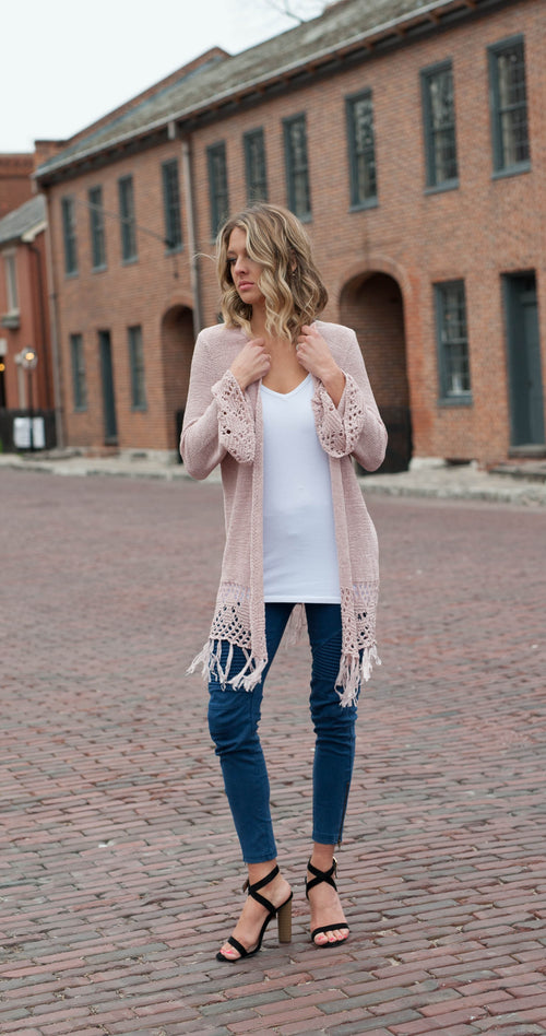 Chelsea Knit Bell Sleeve Cardigan Outerwear - IV Collection