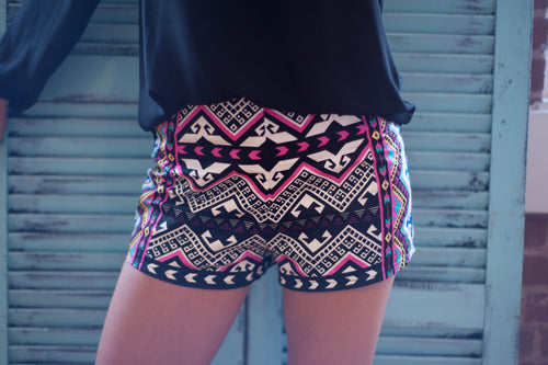 Aztec Shorts Bottoms - IV Collection
