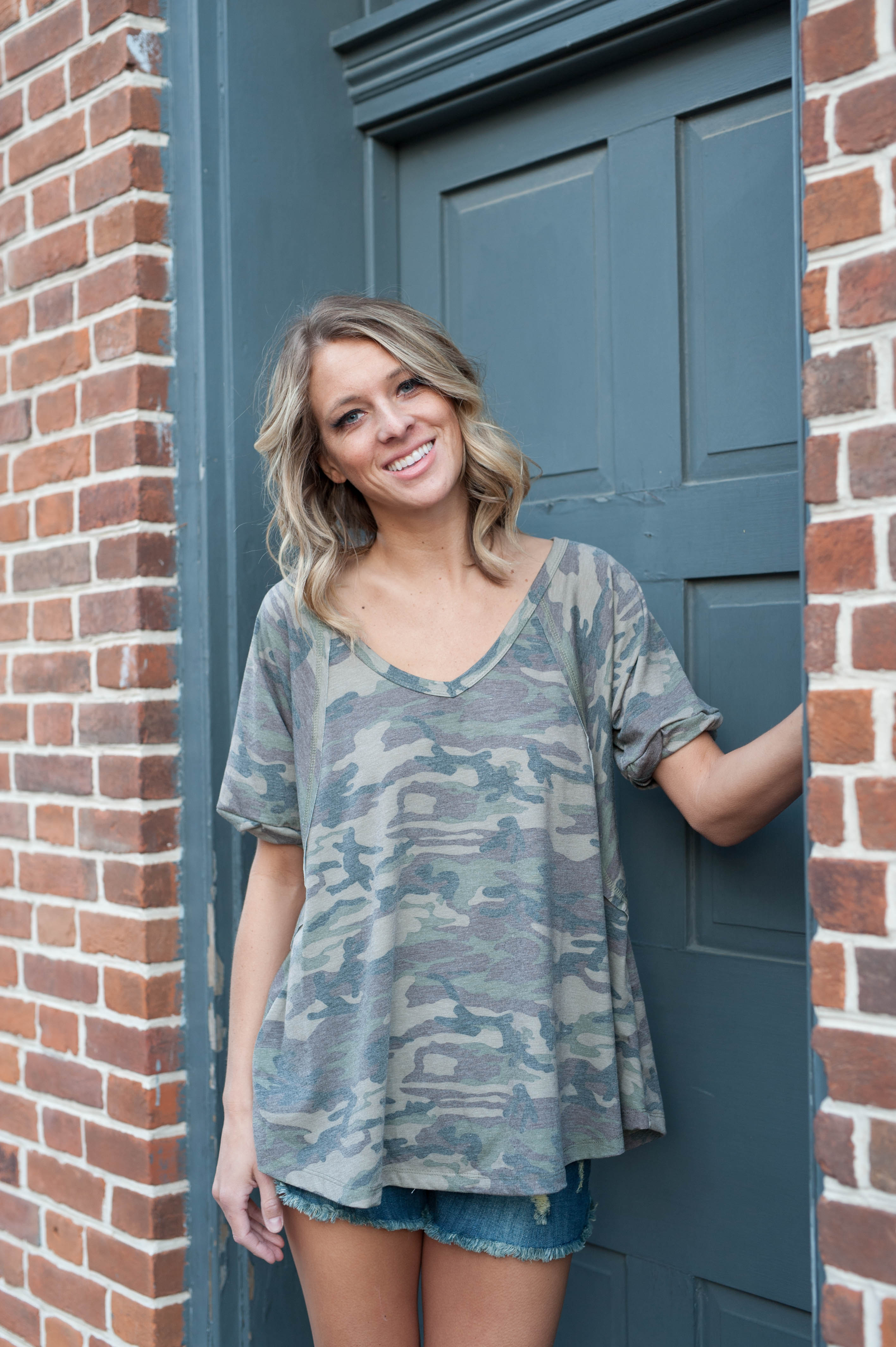 Yanny Loose Camo Top  - IV Collection