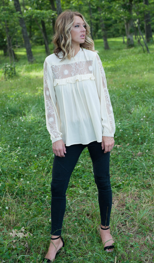The Emily Blouse (Vanilla) Tops - IV Collection