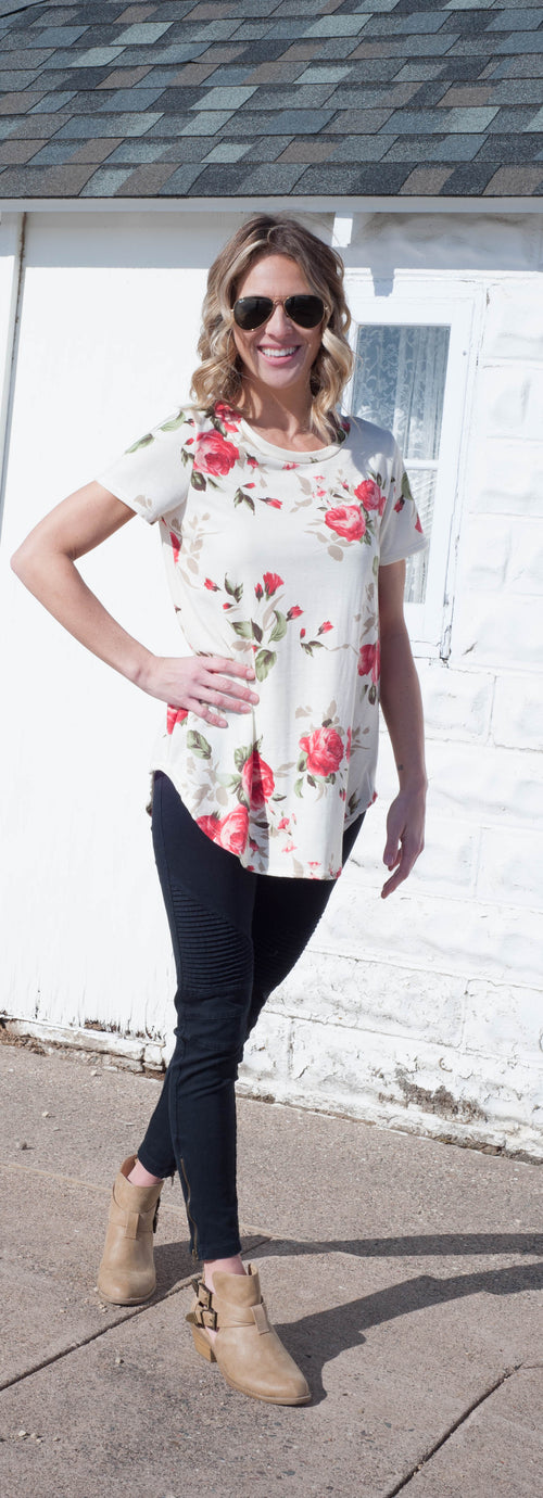 Lillian Floral Top Tops - IV Collection