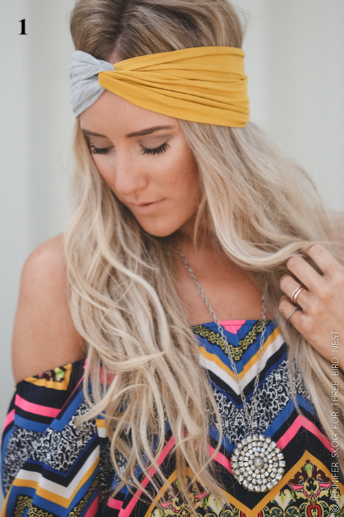 Turban Twist Jersey Knit Headband Accessories - IV Collection