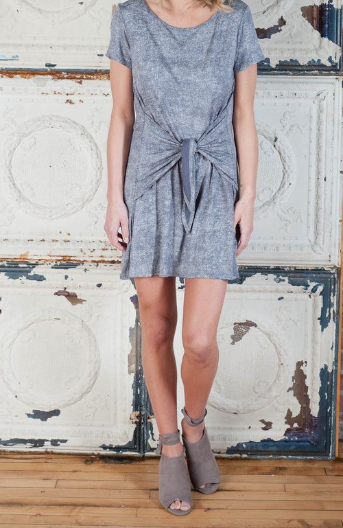 Heather Grey Shirt Dress Dresses - IV Collection