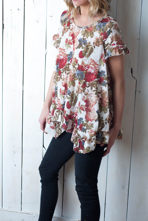 Floral Ruffle Madness Top Tops - IV Collection