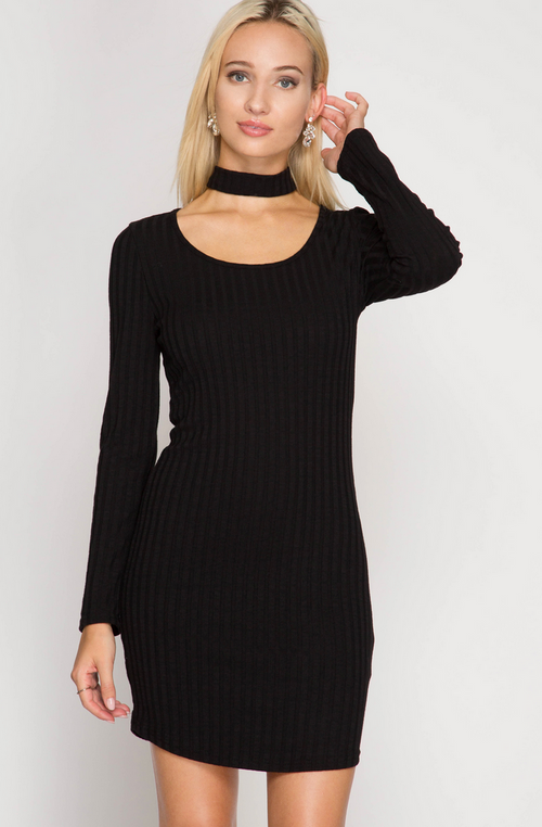 Bionca Sweater Choker Dress Dresses - IV Collection
