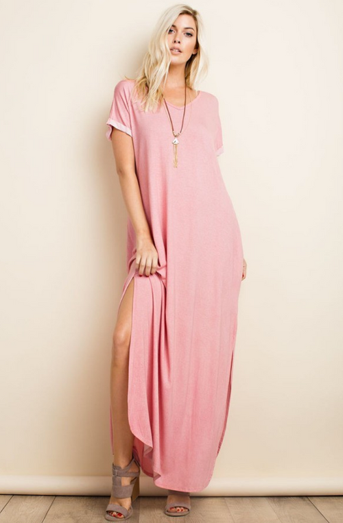 The River Lee Maxi Dress (Coral) Dresses - IV Collection