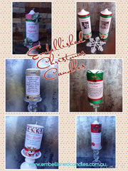 Embellished Christmas Personalised Candles