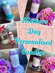 Mothers Day Embellished Candles