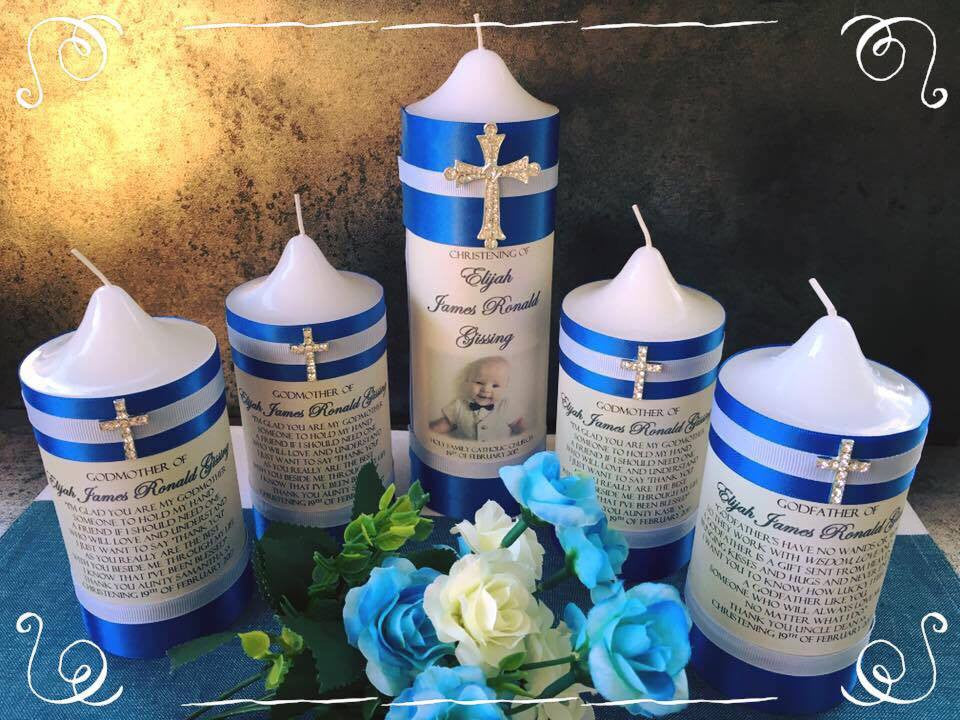 Baptism, Christening and Naming Day Personlised Candles